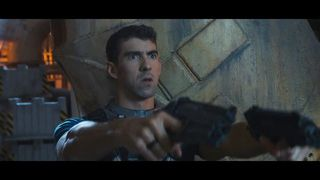 swimmer Michael Phelps and actor Danny McBride, the protagonists of the announcement of COD: Infinite Warfare