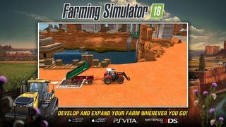 Farming Simulator 18, will be launched in June for the PS Vita and Nintendo 3DS