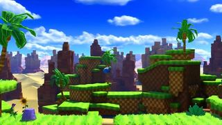 Sonic Forces shows his side more classic with their version of Green Hill Zone