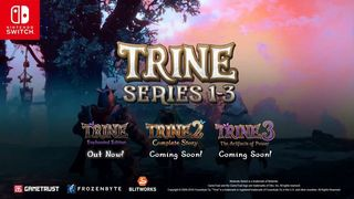The trilogy of Trine can join in a pack for Nintendo Switch